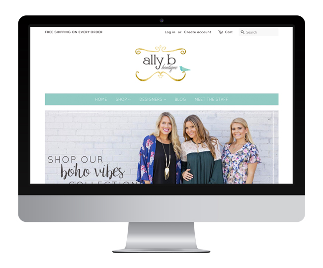 Shopify Website Design for Ally B Boutique by Jelly Design Studio | jellydesignstudio.com