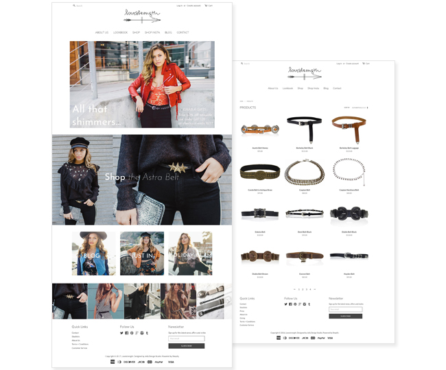 Shopify Website Design for Love Strength by Jelly Design Studio | jellydesignstudio.com