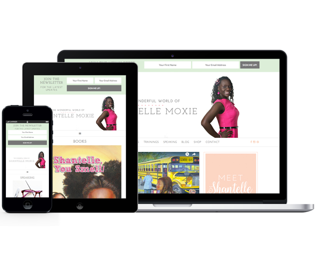 Mobile Friendly Web Design for Shantelle Moxie by Jelly Design Studio | jellydesignstudio.com
