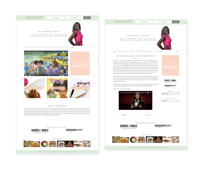 Author Website Design for Shantelle Moxie by Jelly Design Studio | jellydesignstudio.com