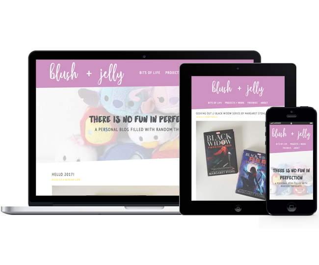 Mobile Friendly Blog Design for Blush and Jelly by Jelly Design Studio | jellydesignstudio.com
