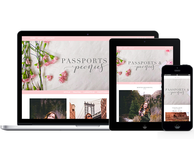 Mobile Friendly Blog Design for Passports and Peonies by Jelly Design Studio | jellydesignstudio.com